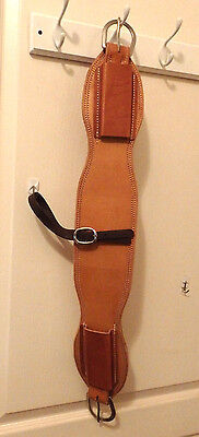"Amish made back girth/cinch SS buckles 34"" ,western horse tack"
