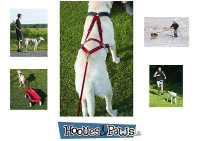 Ultra Paws Dog Joring Harness Pet Gear Adjustible Pulling Bike Mountain Sled