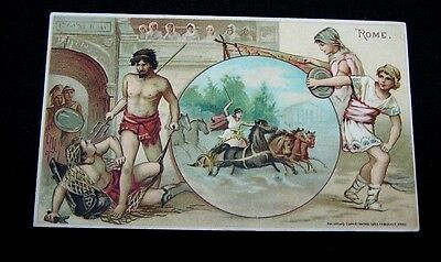 1893 Trade Card-#46 Arbuckle Coffee-Rome-Sports Pastime Series