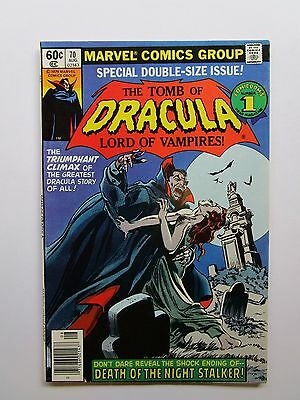 """From Marvel, From 1979  """"tomb Of Dracula # 70 Graded Near Mint Condition"""