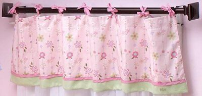 NoJo ~SPRING MEADOW ~ Window Valance Flower Floral  Pink Garden Girl NEW