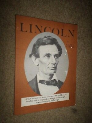 """1958 General Motors """"Lincoln by Ralph Newman"""" Booklet (for GM Men & Women)"""