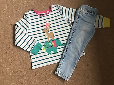 "Girls Next ""fun Animal"" Detailed Top And Skinny's Outfit Age 18 - 24 Months"