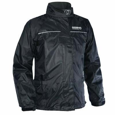 Oxford Rainseal Waterproof Motorcycle Motor Bike Rain Over Jacket - Black