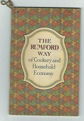 1912 Rumford Way Of Cookery Household Economy Cookbook Janet Hill Providence RI