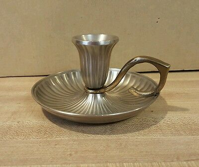 Vintage Single Solid Brass Candlestick by Gatco
