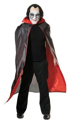 Halloween Fancy Dress Adult Dracula Cape Black With Red Lining
