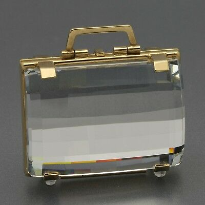 Retired Swarovski Crystal Moments Secrets Collection Mini Suitcase Picture Frame
