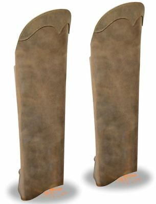 Milwaukee Leather Unisex Leather Half Chaps w/ Back Zipper Brown