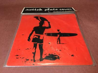 Vintage ENDLESS SUMMER -- Surfing, Surfer Light Switch Plate Cover By Denhams