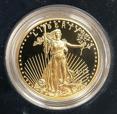 2013 American Gold Eagle 1oz $50 Coin w/ Case St Gaudens
