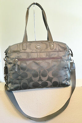 Coach Grey Op Art Diaper Multifuntion Bag Very Clean #77577