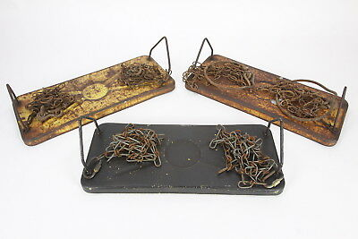 "3 Vintage Rusty Metal Swing Seats 16"" x 6 1/2"" Purdy-Line W/Chains"