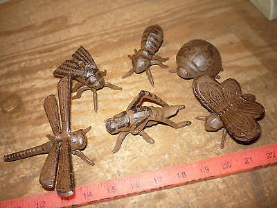 6 Cast Iron Bug Dragonfly Grasshopper Cricket Ant Fly +  Home & Garden Decor