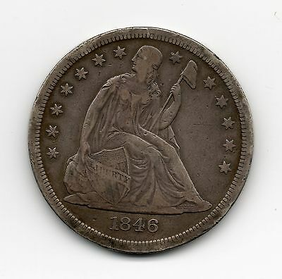 1846-0 Liberty Seated Dollar Very Fine