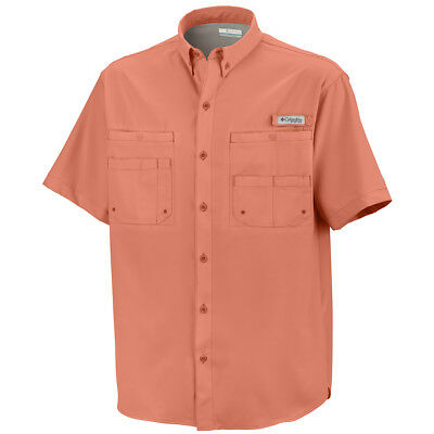 Columbia Men's Tamiami II Short Sleeve Shirt - Bright Peach