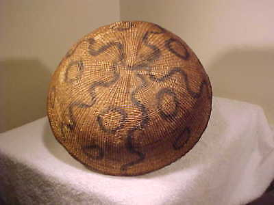 DECORATED ANTIQUE  Basket from the Yanomami Tribe of the Amazon
