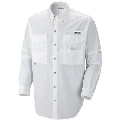 Columbia Bonehead Long Sleeve Collared Shirt - White