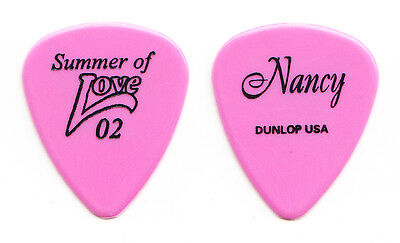 Heart Nancy Wilson Signature Pink Guitar Pick - 2002 Summer of Love Tour