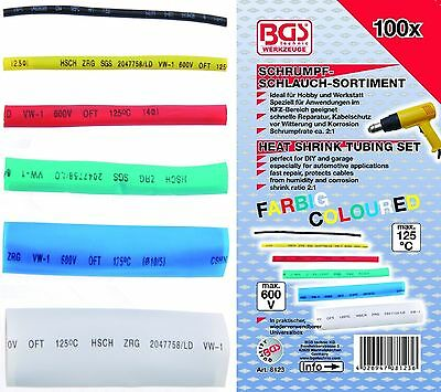 Shrink Tube Assortment Colorful 100 Pieces Vehicle bgs-technic 8123
