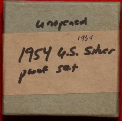 Uncirculated Unopened 1954 United States Silver Proof Set Free S/H!