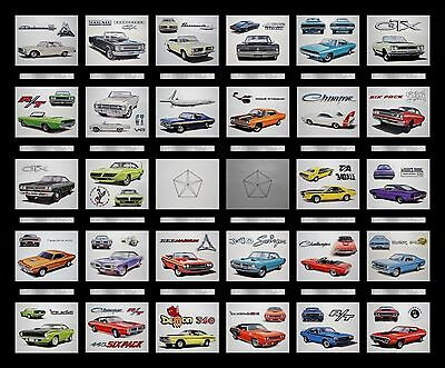28 Dodge + Plymouth Dealer Art Prints Posters - Magnum 383 400 440 Wedge