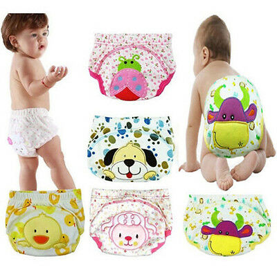 Baby Soft Infant Reusable Nappy Diapers Washable 3 Size Adjustable Panties New