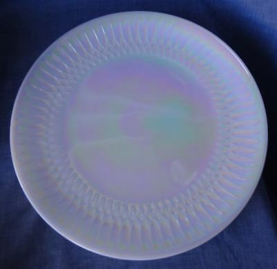 Serving Platters Retro Vintage Federal Glass MOONGLOW Iridescent Pearl Lustre