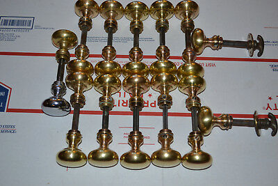 24 Antique Vintage Solid Brass Door Knobs 23 brass And One Silver Nickel Plated