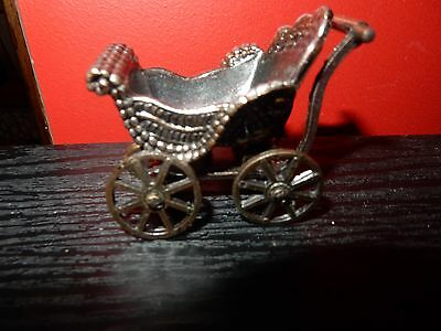 Vintage Holly Hobbie Durham Industries Die Cast Metal Pram