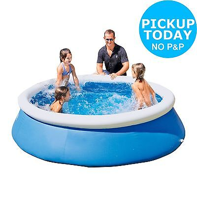 Bestway Quick Up Octagonal Family Pool With Repair Kit - 8ft - Blue Argos ebay