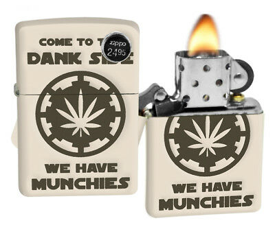 Zippo 29590 Come To The Dank Side Leaf Design Cream Matte Finish Lighter New