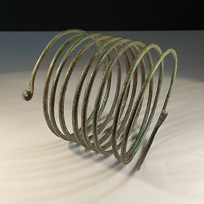 Fabulous Ancient Bronze Age Spiral Armlet 9Th-7Th Century Bc