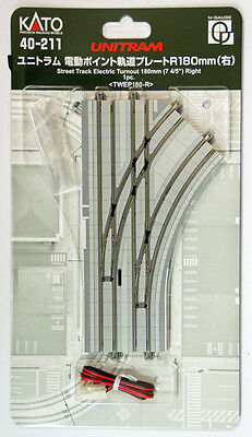"""Kato 40-211 UNITRAM Street Track Electric Turnout 180mm (7 4/5"""") Right (N scale)"""