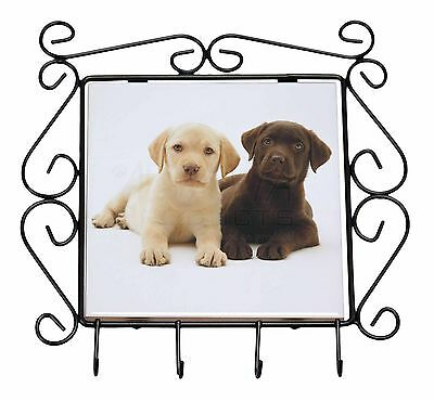 Labrador Puppy Dogs Wrought Iron Key Holder Hooks Christmas Gift, AD-L89KH