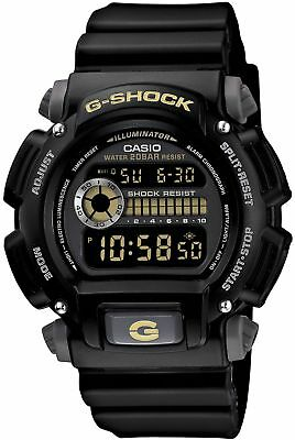 Casio Men's G-Shock Watch With Backlight, Black Resin Strap