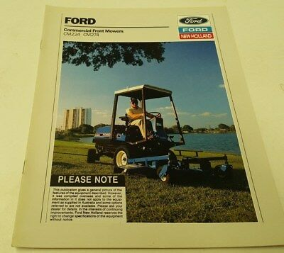 1990 FORD Commercial FRONT MOWERS Original Sales Brochure