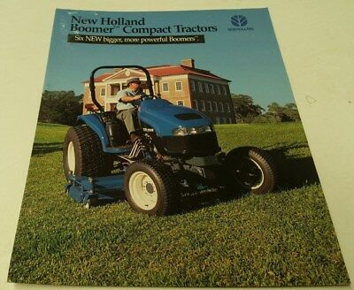 1999 NEW HOLLAND BOOMER COMPACT TRACTOR  Sales Brochure