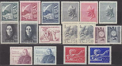 Czechoslovakia - 1947 Complete Year Set Stamps- Jahrgang - **mnh** - Cheap !!