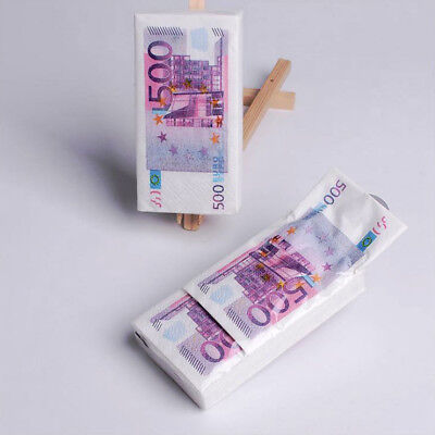 10xEuro Dollar Money Tissue Paper Toilet Handkerchief Facial Pattern Printed