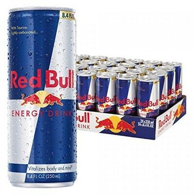 Red Bull Energy Drink, 8.4 Fl Oz Cans, Pack of 24