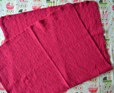 Disana Baby Decke Puckdecke gestrickt Farbe Beere 100% Wolle
