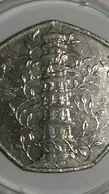 **genuine Circulated Kew Gardens 50P Coin Collectables Fifty Pence Coins
