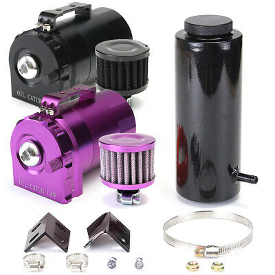 800ML Coolant Aluminum Alloy Catch Tank Cylinder Radiator Overflow Reservoir Kit
