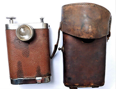 NO RESERVE WW1 Orilux Trench Torch in Original Leather Case Vintage Antique