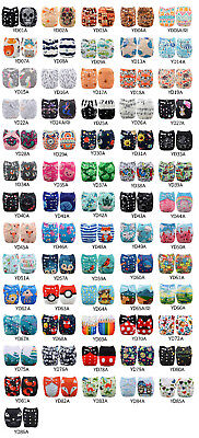 U Pick Alva Cloth Diapers Lot One Size Pocket Reusable Washable +Inserts