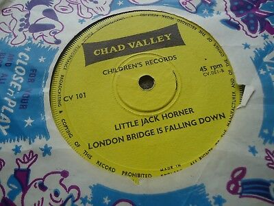 "Chad Valley Childrens Record 7"" 45 There Was A Crooked Man Plays Ex Cv001"