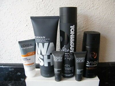 Clinique,Lynx,Toni&Guy.Loreal, Topman Mens 6 Item Hair,Body,Face All New Items