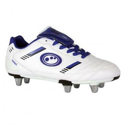 Optimum Tribal Rugby Kids  White/Blue Boot