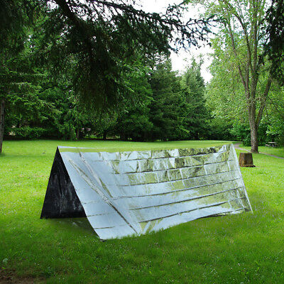 Emergency Survival Tent - Camping Hiking First Aid Blanket Shelter Foil Sheet